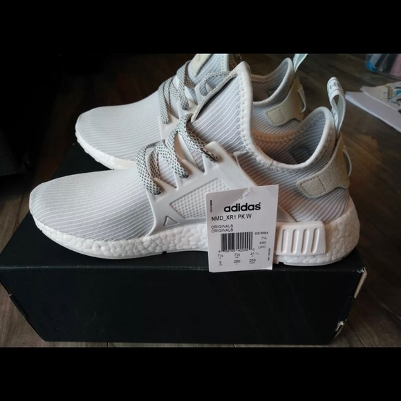 pretty nice 4b425 5cd0b Adidas NMD XR1 PK W - Triple White NWT